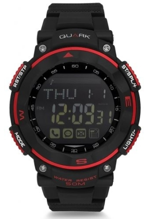 Quark Fonksiyonel Dijital Qu-14648-A Akıllı Kol Saati Smartwatch