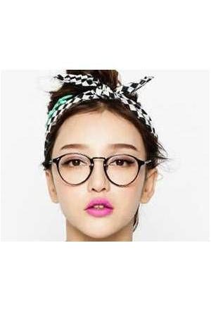 Her Yüz Tipine Uygun İmj Gözlüğü Reto Siyah Çerçeve Tarz Gözlük