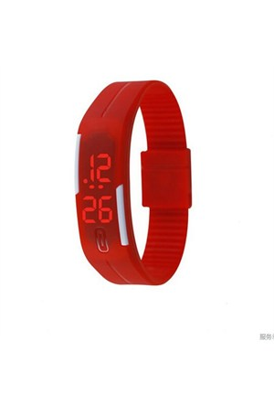 Qb Dijital Unisex Kol Saati Kırmızı