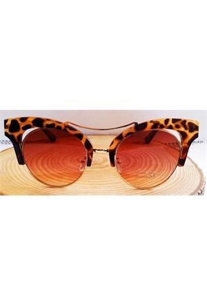 Köstebek Leopar Çerçeveli Güneş Gözlüğü