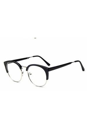 Köstebek Yarım Metal Çerçeveli Cat Eye Gözlük