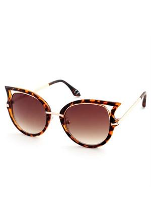 Almera Yeni Sezon Trend Moda Leopar Kahve Güneş Gözlüğü 37179