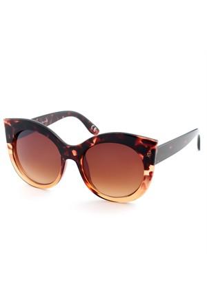 Almera Yeni Sezon Trend Moda Leopar Kahve Güneş Gözlüğü 37049