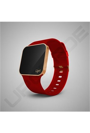 Upgrade Matte Rose Gold & Red Kol Saati