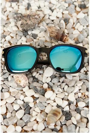 Morvizyon Clariss Marka Siyah Çerçeve Tasarımlı Mavi Camlı Unisex Güneş Gözlük Modeli