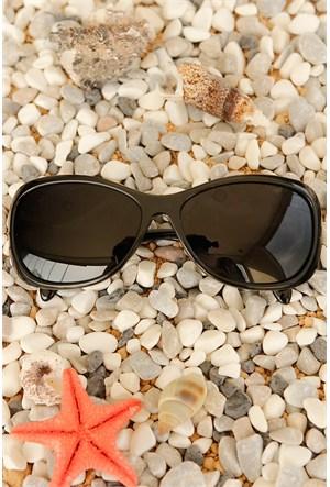 Morvizyon Clariss Marka Siyah Cam Ve Çerçeve Tasarımlı Unisex Güneş Gözlük Modeli