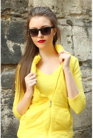 Morvizyon Clariss Marka Mat Tasarımlı Siyah Kare Çerçeveli Bayan Gözlük