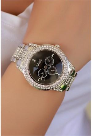 Morvizyon Clariss Marka Gri Tasarımlı Bayan Saat
