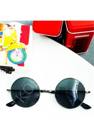 Köstebek Antrasit Çerçeveli John Lennon Güneş Gözlüğü Jlg021