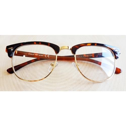 Köstebek Kahverengi - Siyah Çerçeveli Gözlük Kgz071