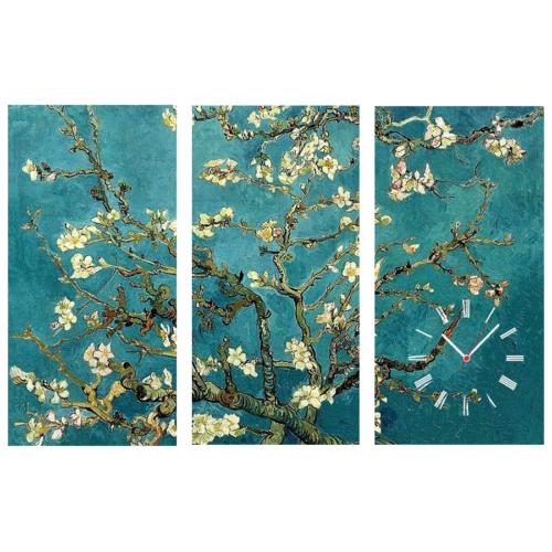 Tictac Design 3 Parça Tablo Saat Van Gogh