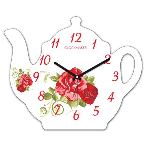 Clockmaker By Cadran 30x25 MDF Demlik Duvar Saati CMM213