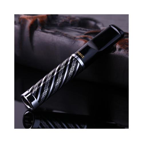 Zobo Desenli Çelik,Plastik Normal Sigara Ağızlığı, Ağızlık de25