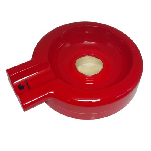 Cohiba Çelik Üzeri Kırmızı Fırın Boya Puro Küllüğü, Küllük dd33
