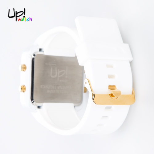 Up Watch Saat Led Gold Edition White