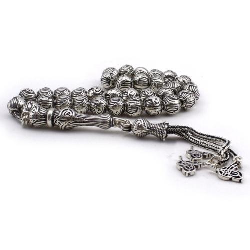 Tesbihane Tamamı 925 Ayar Gümüş Tuğra Tasarım Tesbih