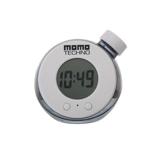 Momo Techno GT201 Su ile Çalışan Masa Saati (Beyaz)