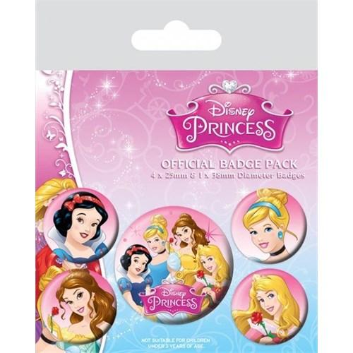 Pyramid International Rozet Seti - Disney Princess Belle, Cinderella, Snow Whie And Aurora