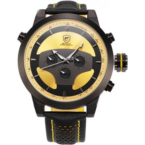 Shark Sh208 Siyah Sarı Spor Erkek Kol Saati