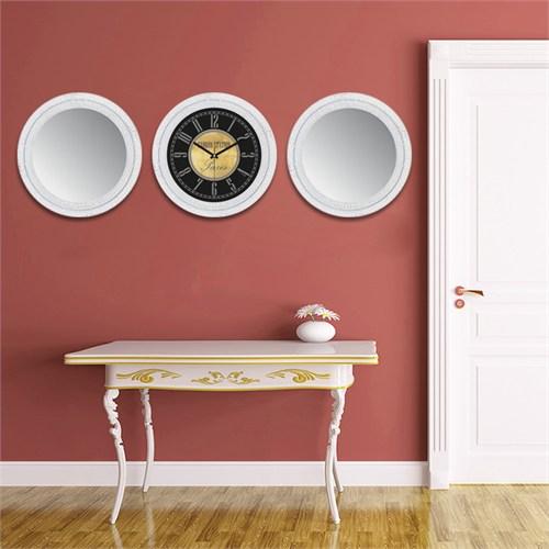 Cadran Home 2'Li Ayna Ve Duvar Saati Set Chas29
