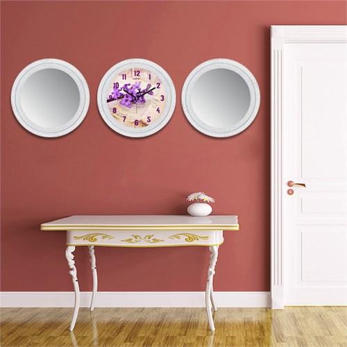 Cadran Home 2'Li Ayna Ve Duvar Saati Set Chas42