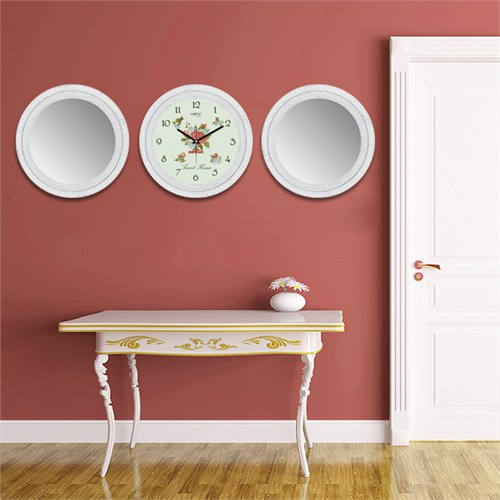 Cadran Home 2'Li Ayna Ve Duvar Saati Set Chas46