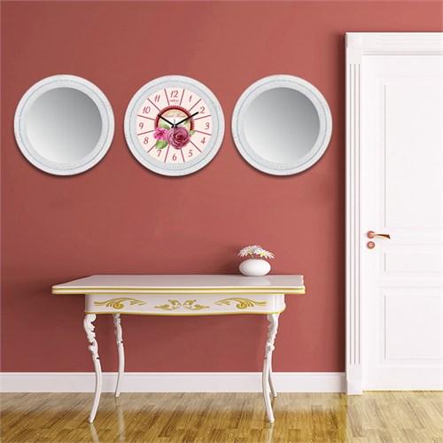 Cadran Home 2'Li Ayna Ve Duvar Saati Set Chas49