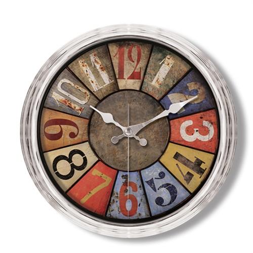 Clocktime By Cadran Metalize Vintage Duvar Saati Ct107