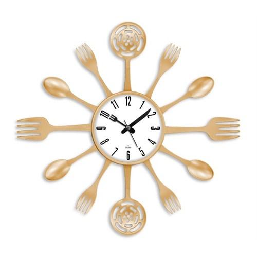Clocktime By Cadran 40X40 Çatal Kaşık Mutfak Saati Ct119