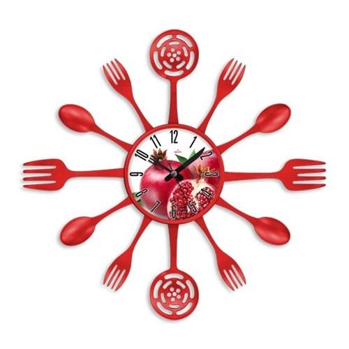 Clocktime By Cadran 40X40 Çatal Kaşık Mutfak Saati Ct120