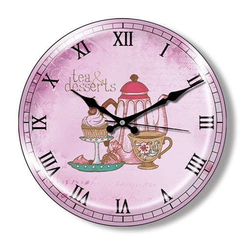 Clocktime By Cadran Dekoratif Bombeli Cam Duvar Saati Ct11