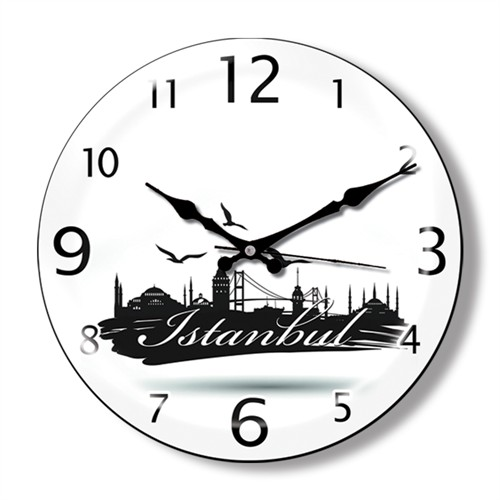 Clocktime By Cadran Dekoratif Bombeli Cam Duvar Saati Ct17