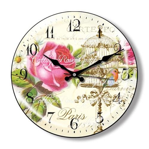 Clocktime By Cadran Dekoratif Bombeli Cam Duvar Saati Ct18