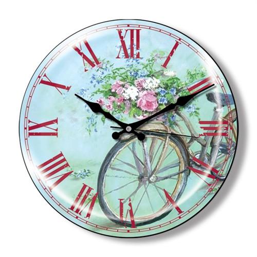 Clocktime By Cadran Dekoratif Bombeli Cam Duvar Saati Ct19