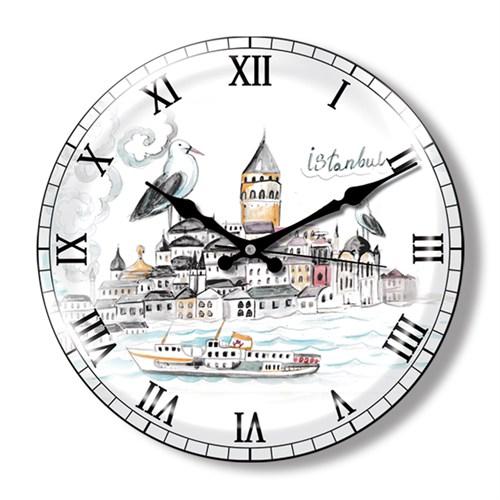 Clocktime By Cadran Dekoratif Bombeli Cam Duvar Saati Ct21