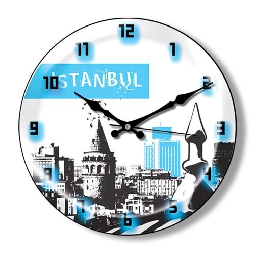 Clocktime By Cadran Dekoratif Bombeli Cam Duvar Saati Ct23