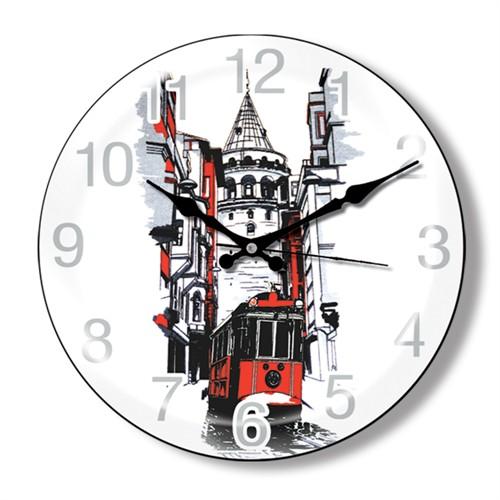 Clocktime By Cadran Dekoratif Bombeli Cam Duvar Saati Ct26