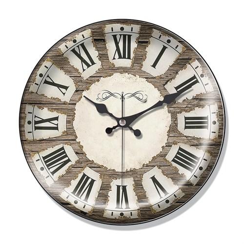 Clocktime By Cadran Dekoratif Bombeli Cam Duvar Saati Ct35