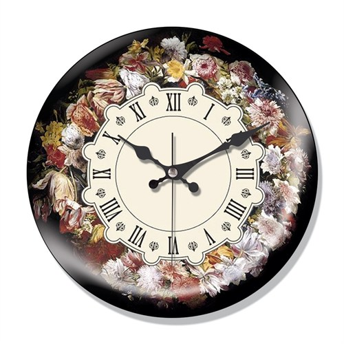 Clocktime By Cadran Dekoratif Bombeli Cam Duvar Saati Ct36