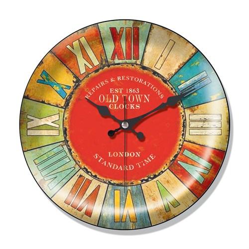 Clocktime By Cadran Dekoratif Bombeli Cam Duvar Saati Ct41