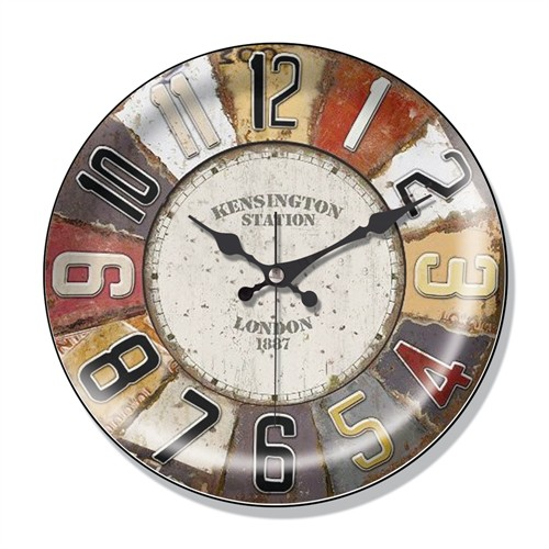 Clocktime By Cadran Dekoratif Bombeli Cam Duvar Saati Ct44