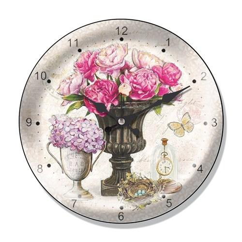 Clocktime By Cadran Dekoratif Bombeli Cam Duvar Saati Ct59