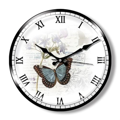Clocktime By Cadran Dekoratif Bombeli Cam Duvar Saati Ct8