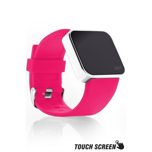 Upwatch Touch Shiny Silver&Pink Kol Saati