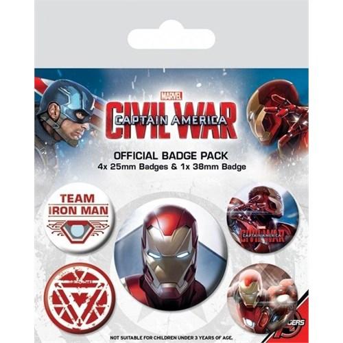 Pyramid International Rozet Seti Captain America Civil War Iron Man