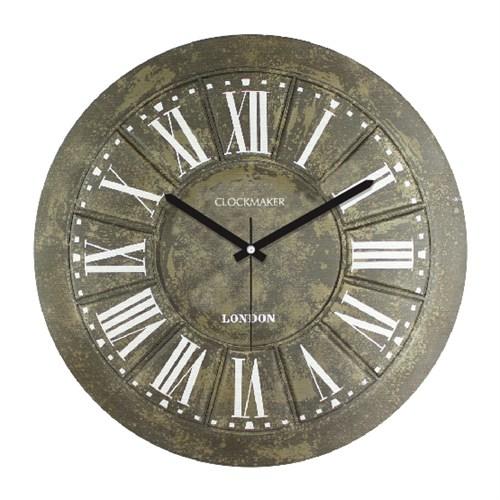 Clockmaker By Cadran Retro Vintage 30X30 Mdf Duvar Saati Cmm102