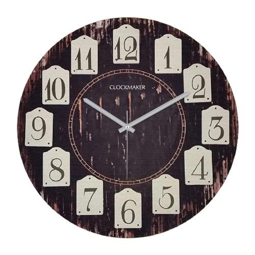 Clockmaker By Cadran Retro Vintage 30X30 Mdf Duvar Saati Cmm103