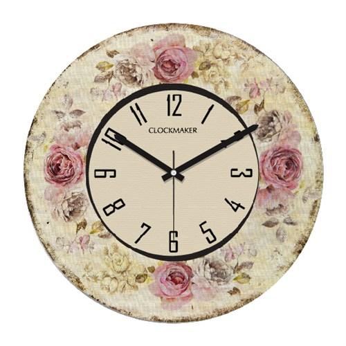 Clockmaker By Cadran Retro Vintage 30X30 Mdf Duvar Saati Cmm140