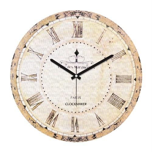 Clockmaker By Cadran Retro Vintage 30X30 Mdf Duvar Saati Cmm142