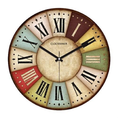Clockmaker By Cadran Retro Vintage 30X30 Mdf Duvar Saati Cmm143